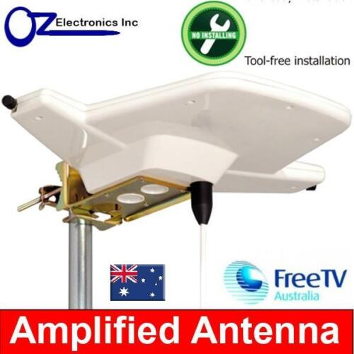 Powerful Indoor Amplified Antenna UHF VHF FM 4 AUSTRALIAN for House & Apartments