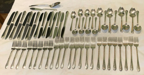 1940 Exquisite Silverplate Service 8 Lot 58 piece International Silver Luncheon