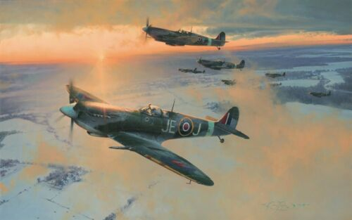 MIDWINTER DAWN by Robert Taylor Canadian edition signed by Eight Spitfire Pilots