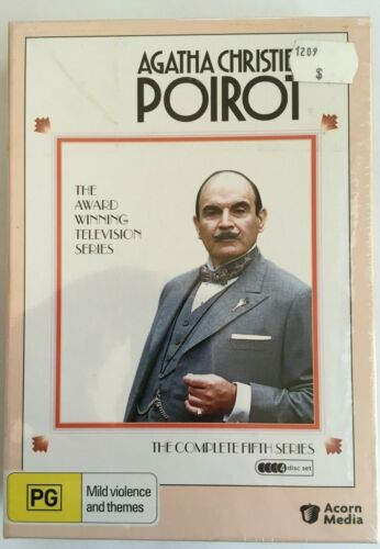 AGATHA CHRISTIES POIROT - THE COMPLETE 5TH SERIES - 4 Disc DVD SET All Region