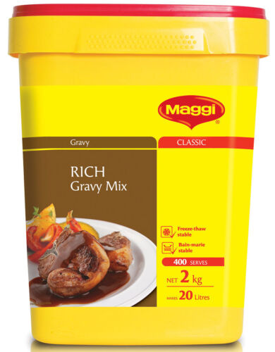 MAGGI RICH GRAVY MIX 2KG SECURELY PACKED BEST BEFORE SEPTEMBER 2021 -  FREE POST