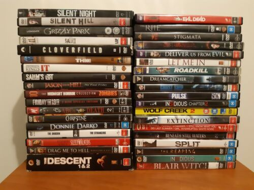 DVD titles. HORROR COLLECTION Immacluate condition