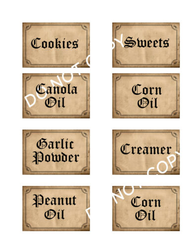 Primitive Spice Labels FH140-6 Nice Germany Font - Perfect Size