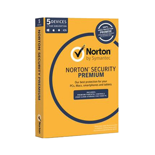 Norton Security Premium Oem Software Single Pack 5 User 1 Year License