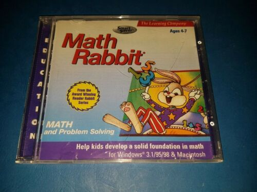 THE LEARNING COMPANY MATH RABBIT Educational PC CD ROM (AGES 4-7)