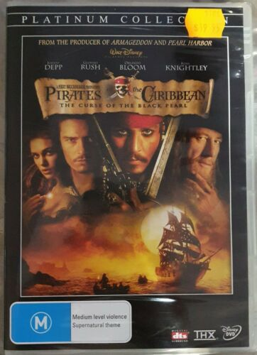 Pirates Of The Caribbean-The Curse Of The Black Pearl NEW DVD Platinum Collectio
