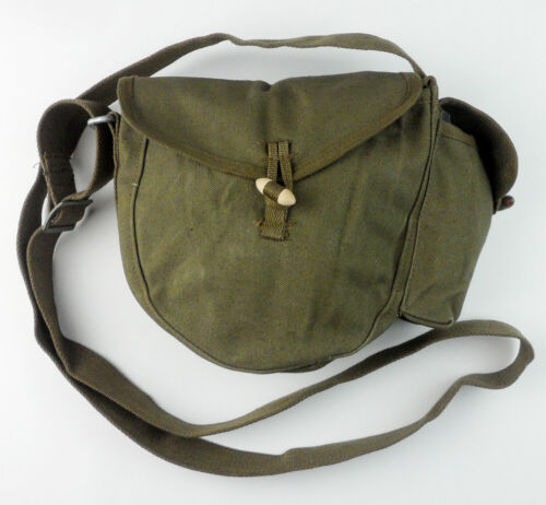 Original Chinese Army Type 56 Drum Magazine Pouch Canvas Ammo Bag & Side PackPersonal, Field Gear - 36065