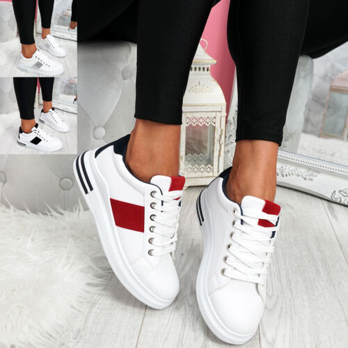 WOMENS LADIES LACE UP PLATFORM TRAINERS CASUAL WOMEN SUMMER SNEAKERS SHOES