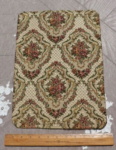 Antique c1900 French Floral Frame Cotton Tapestry Jacquard Sample Fabric~14.5X10