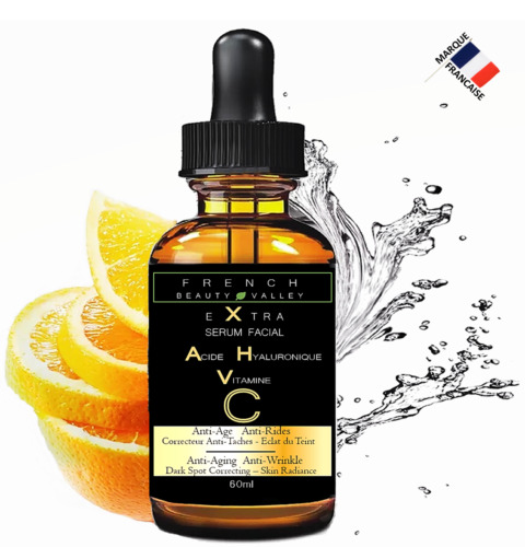 EXTRA SERUM VISAGE A L'ACIDE HYALURONIQUE & VITAMINE C - FLACON GEANT 60ML