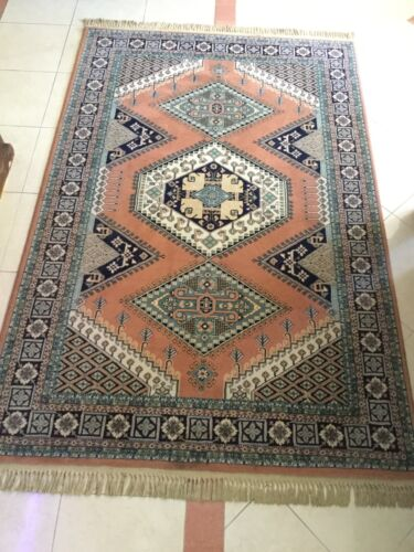 Multi Coloured Rug Wool (Very Good Condition) RRP $899