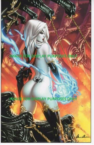 LADY DEATH GO ASS ART PRINT -  EBAS & BRIAN PULIDO SIGNED 11x17