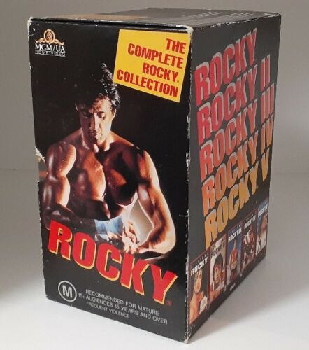Rocky Collection Box Set VHS Tapes