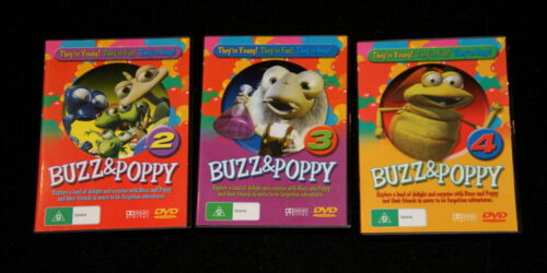 3 x DVD's BUZZ & POPPY 2, 3 & 4 They're young, they're fun, they're bugs!