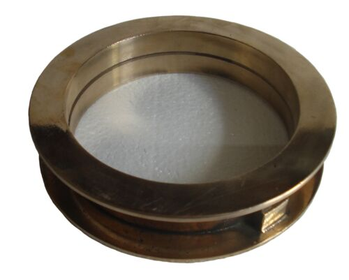 Marine BRASS PORT HOLE / Window / Porthole - 6 INCHES - TOUGHENED GLASS
