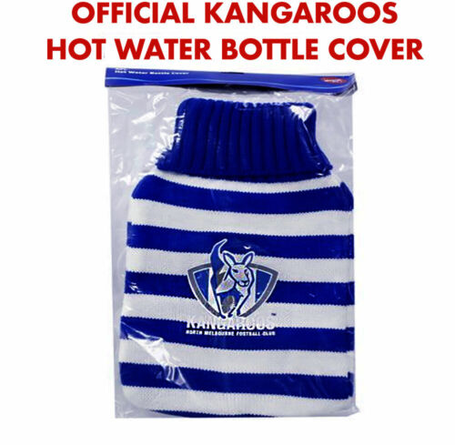 North Melbourne Kangaroos Official AFL Knitted Hot Water Bottle Cover Warmer