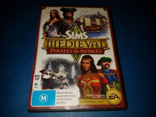 The Sims Medieval Pirates & Nobles Expansion Pack PC DVD ROM MAC GAME IN VGC