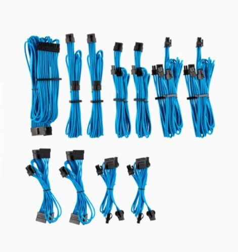 For Corsair PSU Blue Premium Individually Sleeved DC Cable Pro Kit Type 4 Gen 4