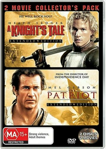 DVD A KNIGHTS TALE + THE PATRIOT 2 MOVIE'S EXTENDED EDITIONS BRAND NEW UNSEALED