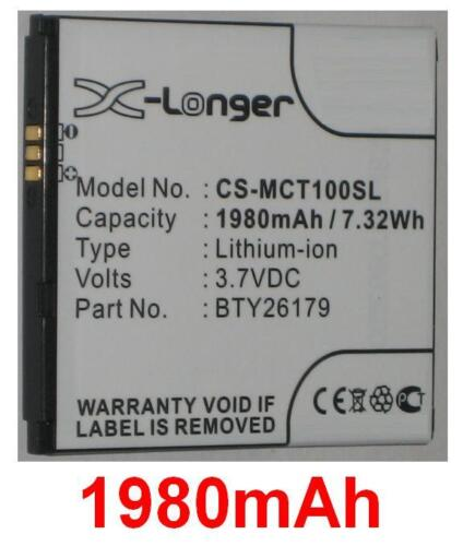 Batterie 1980mAh type BTY26179 BTY26179MOBISTEL/STD Pour Mobistel Cynus T1