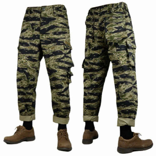 Vietnam War US Army Tiger Pattern Tabby Camouflage TCU Trousers Cotton L-0883Reproductions - 156445