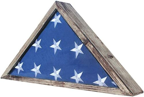 Rustic Burial/Memorial Flag Display Case for 5'X9.5' Folded Casket Flag Other Militaria - 135