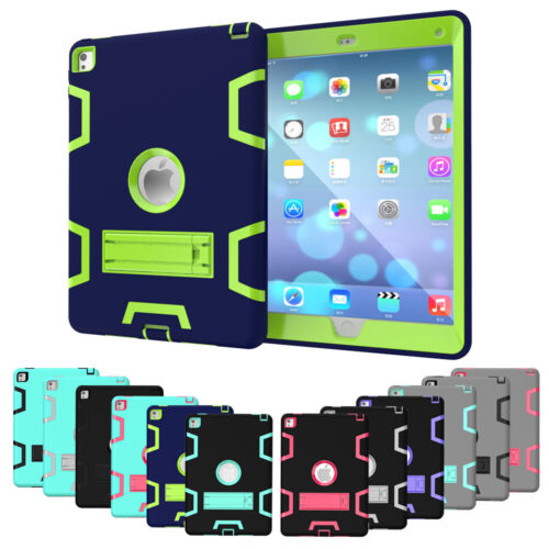 """Shockproof Case Kids Tough Stand Cover for iPad 2/3/4 6th Gen 2018 9.7"""" Mini Air"""