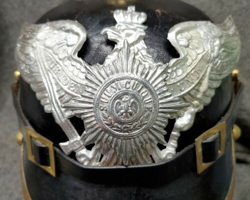 WWI Reproduction Prussian Garde Pickelhaube Helmet Plate with Silver FinishGermany - 156409