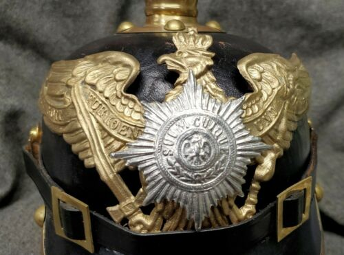 WWI Reproduction Prussian Garde Pickelhaube Helmet Plate with brass FinishGermany - 156409