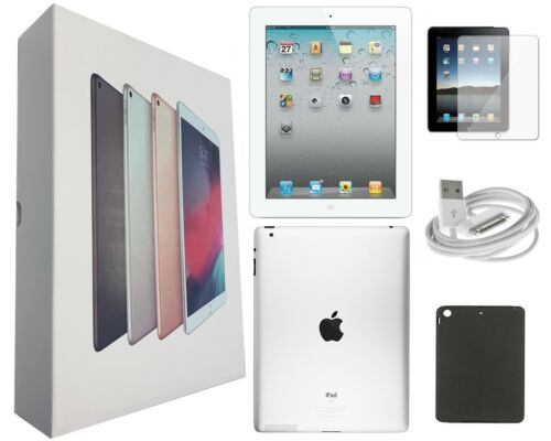 Apple iPad 4 White, 9.7-inch, 32GB, Wi-Fi Only, Plus Bundle, Free 2-Day Shipping