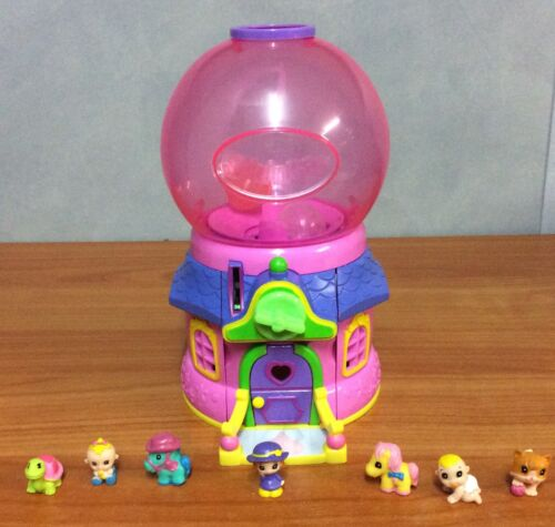Blip Toys Squinkies Toy Dispenser Pink House - with 7 squinkies & 3 capsules