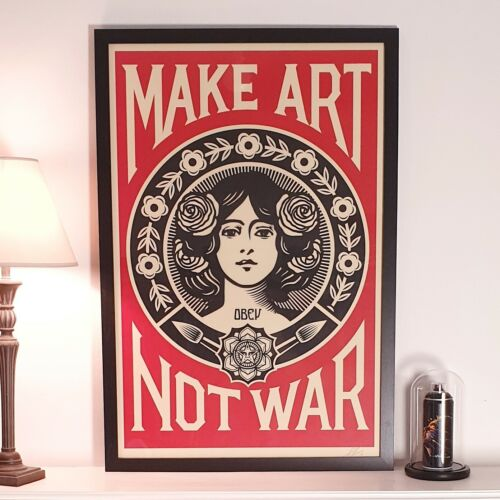 Shepard Fairey (OBEY) - Make Art Not War - Open Edition - SIGNED - 2021 <br/> Certificate of provenance issued on buyer's request