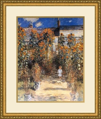 Claude Monet - Child in a Garden NEWLY Custom  Framed Print FREE SHIPPING