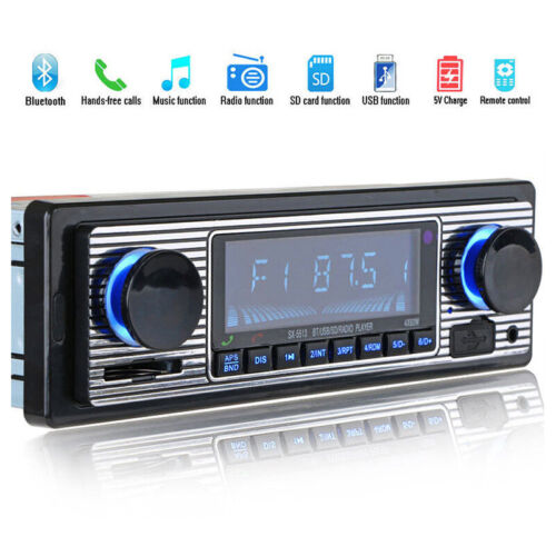 Bluetooth Vintage Car Radio MP3 Player Stereo USB AUX Best Classic Stereo Audio.