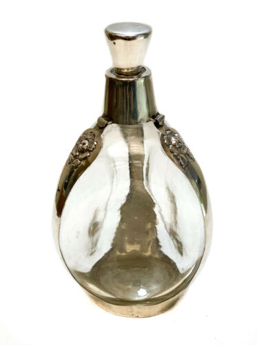 Mexican Casa Prieto Juarez 925 Sterling Silver 3-Pinched Sided Decanter