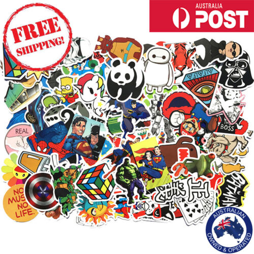 100 Random Cool Vinyl Decal Graffiti Stickers Car Bomb Laptop Waterproof Skate