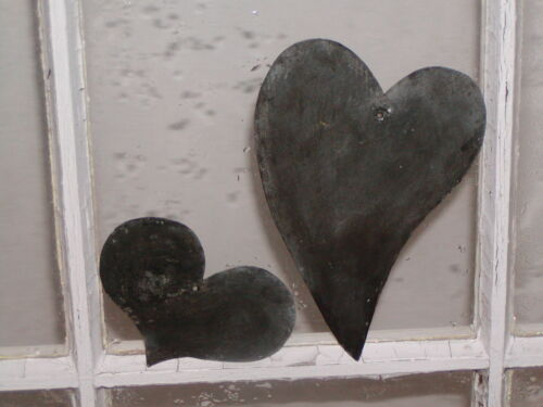 Primitive Early 18th ~ 19th Century Style 2 Tin Heart Quilting Templates Stencil