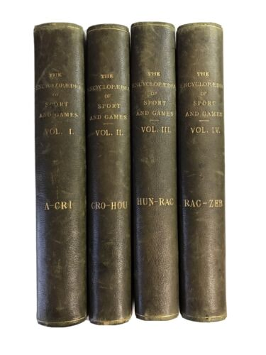 The Encyclopedia Of Sport And Games 4 volumes Enciclopedia Inglese Sport&Giochi