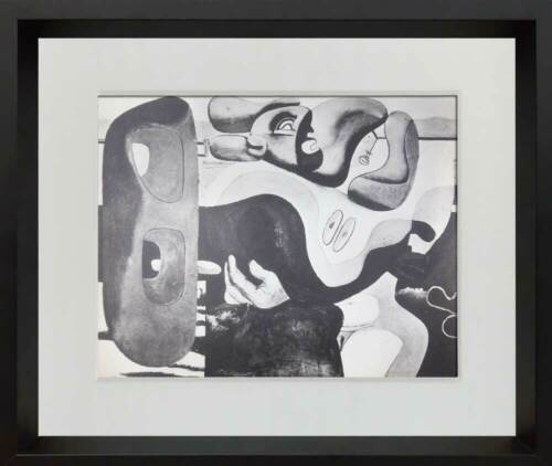 """Le CORBUSIER Lithograph """"Two women at the seaside"""" 1935 w/ Frame"""