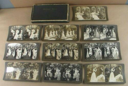 H.C White Company Stereoview Wedding Series Card Set of 10 with Box 1903