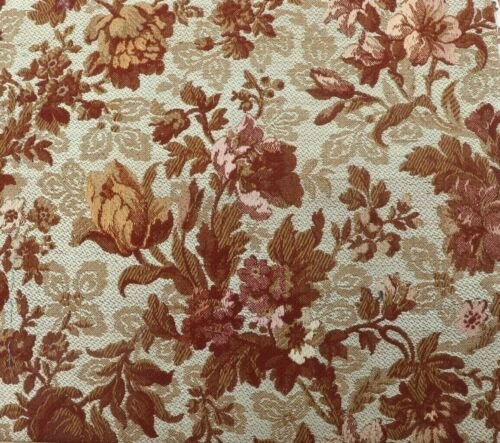 """French Antique 19thC Silk & Wool Floral Tapestry Fabric c1880~L-39"""" X W-11"""""""
