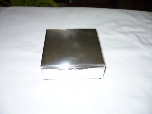 Vintage Silver Plated Footed Cigarette Box-Made in Germany