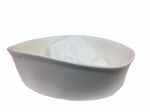 US issue Navy Dixie Cup Enlisted Sailor Hat, White size Large (7 1/2)Original Period Items - 156451