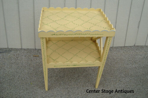 61094 Hand Painted Decorator Lamp Table Nightstand Table Stand