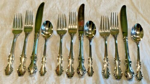 Towle Standish 3 4 Piece Place Setting Set Knife Fork Spoon Silverplate Lot 12