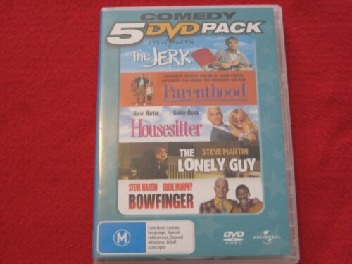 RARE Comedy 5 DVD Pack Steve Martin Movies EX condition FREE POST