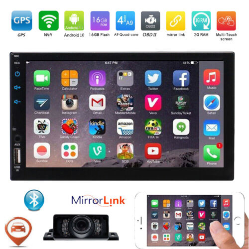 Android 10.0 Double 2 Din No DVD Player Car Radio Stereo Head Unit GPS SAT NAV