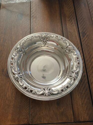 "11"" BIG HEAVY QUALITY WALLACE GRANDE BAROQUE STERLING SILVER FRUIT BOWL"