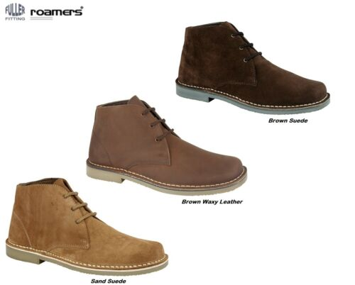 Desert Boots ROAMERS ORIGINAL Suede Leather FULLER FIT Lace-Up Ankle Size 3-15
