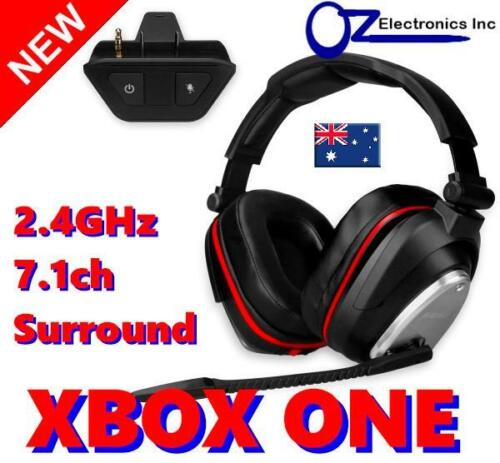 2.4GHz True Wireless Gaming Headset for Xbox One 7.1 Virtual Surround NEW